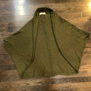 Zara Army Green Knit Shrug Sweater Women's Size Medium.